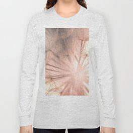 Pink Dandelion Macro Nature Photography Art and Apparel Long Sleeve T-shirt