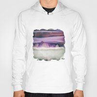 northern lights Hoodies featuring Northern Lights by SpaceFrogDesigns