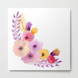 Floral Wrap Metal Print