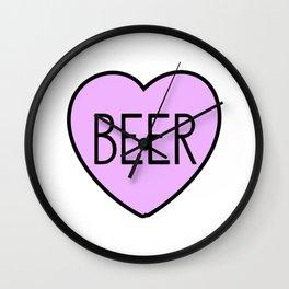 Beer Heart Wall Clock