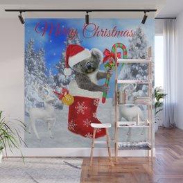 Baby Koala Christmas Cheer Wall Mural