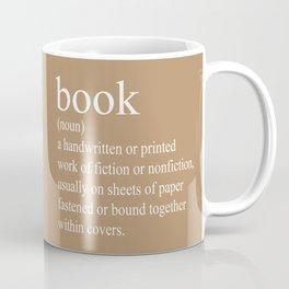 Book Definition (White on Tan) Coffee Mug