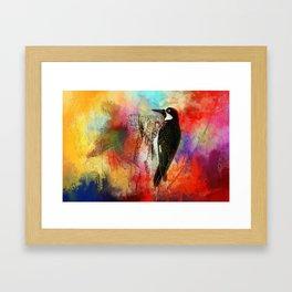 Acorn Woodpecker Framed Art Print