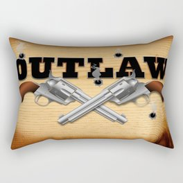 Western outlaw background illustration Rectangular Pillow