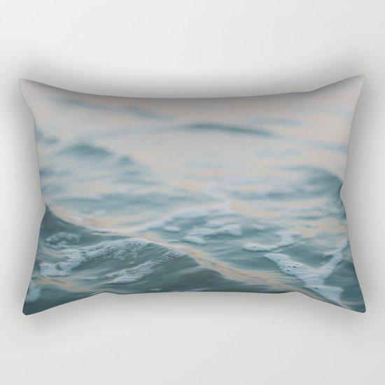Blue Underneath Rectangular Pillow
