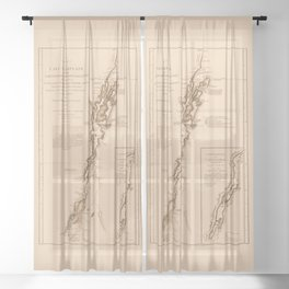1770s Maps: Lakes Champlain and George (adapted) Sheer Curtain