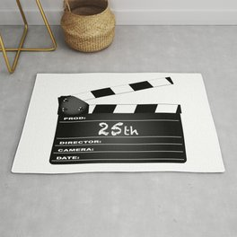 25th Year Clapperboard Rug