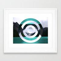 lake Framed Art Prints featuring Lake Louise by Fimbis