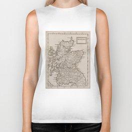 Vintage Map of Scotland (1681) Biker Tank