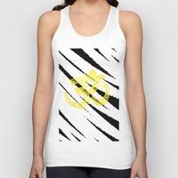 om Tank Tops featuring OM by Rebecca Bear