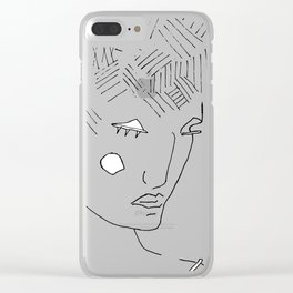 Abstract nonsense portrait Clear iPhone Case