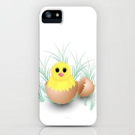 Chicken, chick, peeper, yellow chicken, egg shell, egg, shell, Easter, Easter chicken iPhone Case