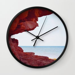 Red Rocks and Sapphire Seas Wall Clock