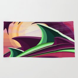 The Wave and The Dragon Beach Towel