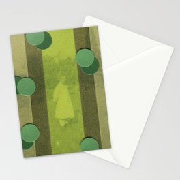 Green Curtain Stationery Cards