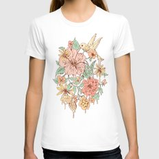 Coexistence X-LARGE White Womens Fitted Tee