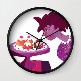 Lady with Pretty Tarts Wall Clock