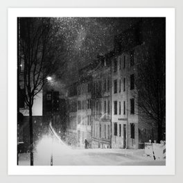 snowstorm street Kunstdrucke