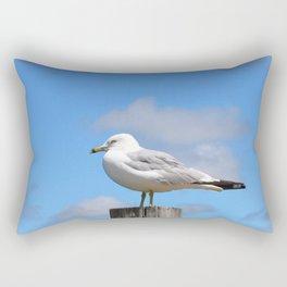 Seagull Bird Beach Art - Sitting Pretty - Sharon Cummings Rectangular Pillow