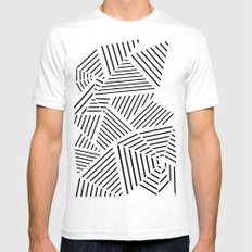 Ab Linear Zoom W Mens Fitted Tee White SMALL