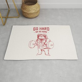Go Hard or Go Home Sloth Rug
