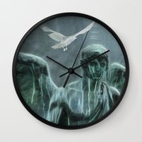 angel Wall Clocks featuring Angel by Lucia