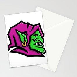 Goblin Head Mascot Stationery Cards