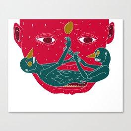 Burning mustache Canvas Print