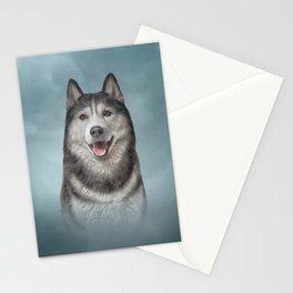 Drawing Husky dog 3 Stationery Cards