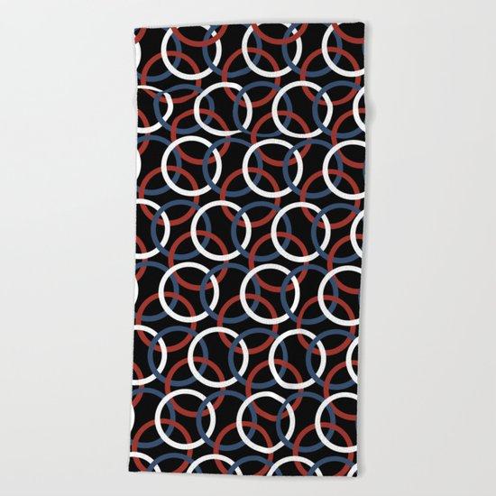 Olympica Black Beach Towel