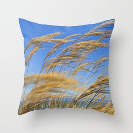 Wheat Blowing in the Heartland Wind Throw Pillow