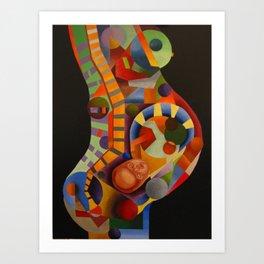 PREGNANT WOMAN Art Print