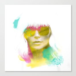 Atomic Blonde Water Color Canvas Print