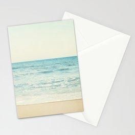 Ocean Landscape Art, Sea Photography, Aqua Seascape, Calming Ocean Horizon Photo Stationery Cards