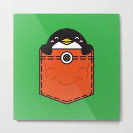 Pocket Penguin Metal Print