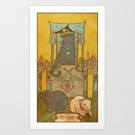Muroidea Rat Tarot- The Chariot Art Print