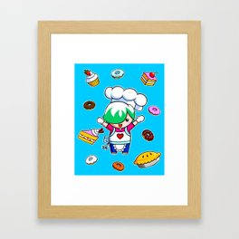 Let's get baking! Framed Art Print
