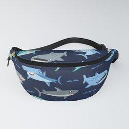 Sharks! (Navy) Fanny Pack