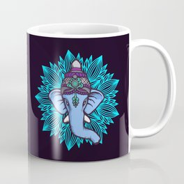 Wise Elephant Ganesha Mandala Coffee Mug