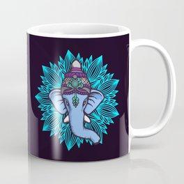 Wise Elephant Ganesha Mandala Coffee Mug