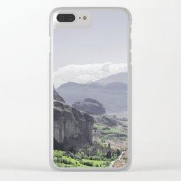Greece Landscape Panorama Clear iPhone Case