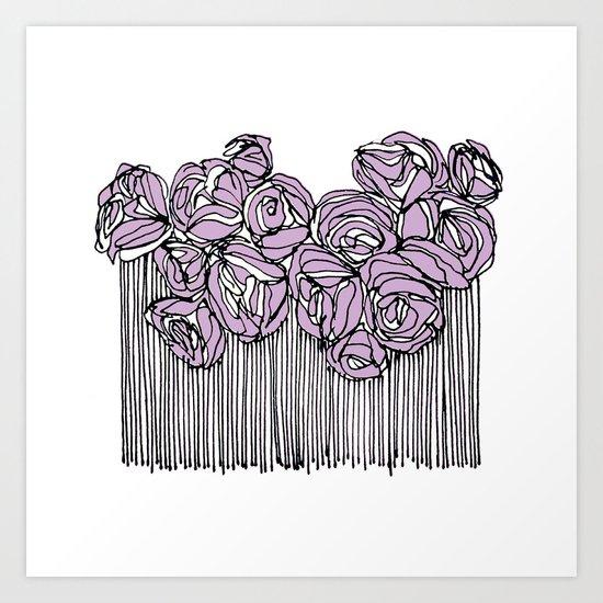 String Bouquet - Lavender Art Print