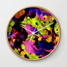 Paintskin with Orange and Blue Wall Clock