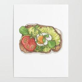 Breakfast & Brunch: Avocado Toast Poster