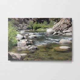 Down River, kern River Metal Print