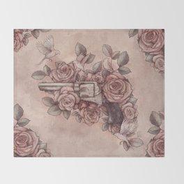 Guns & Flowers Throw Blanket