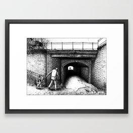 DANGEROUS KID Framed Art Print