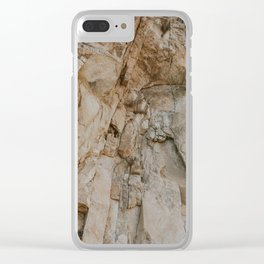 Gnarley Mountain Rock Clear iPhone Case