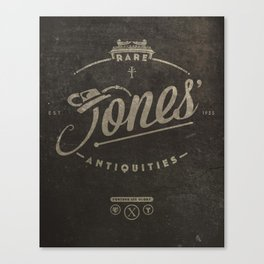 """Jones' Rare Antiquities"" - wall version Canvas Print"