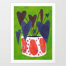 Anthurium Planter Art Print